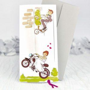 invitatii nunta haioase motocicleta