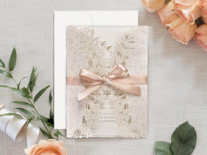 invitatii nunta 39707 crem eleganta