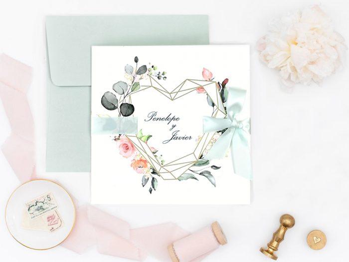 invitatii nunta 39724 eleganta crem roz