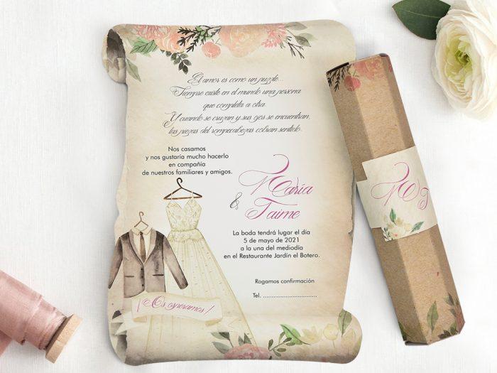 invitatii nunta 39744 papirus
