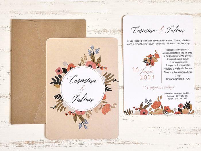 invitatii nunta 39785 elegante ieftine