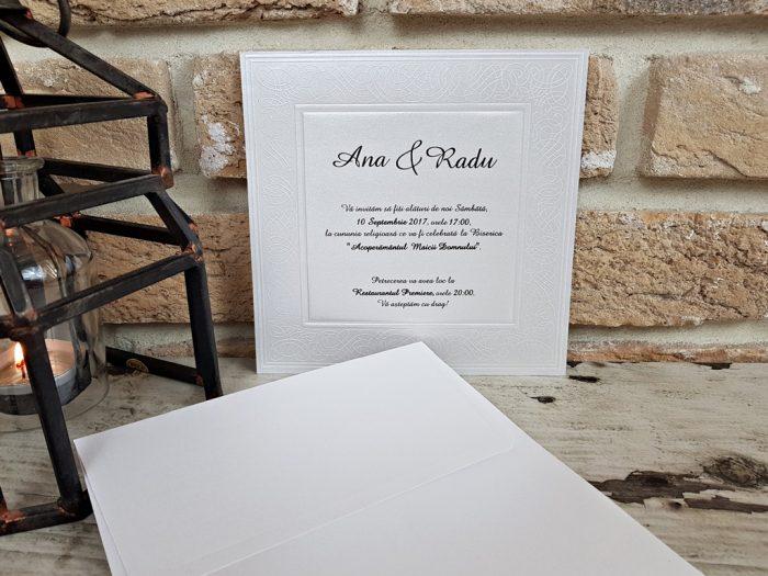 invitatii nunta simple argintii 2566