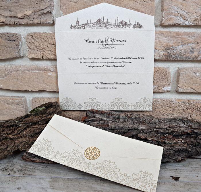 invitatii nunta vintage 2663
