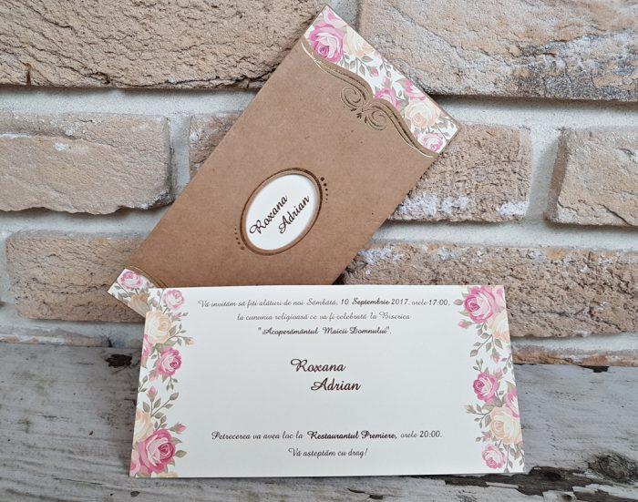 invitatii nunta vintage 2665