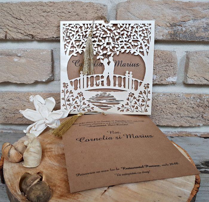 invitatii nunta vintage 2680