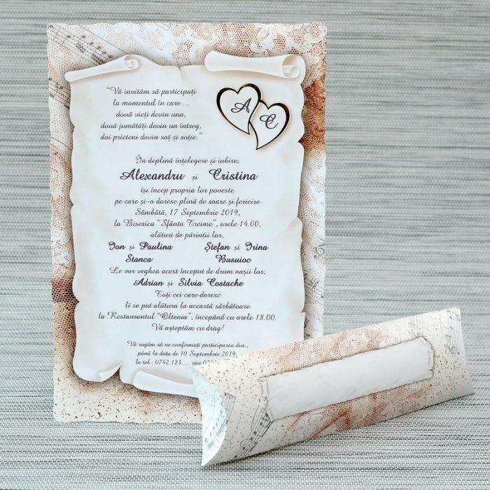 invitatii nunta papirus pergament 1145