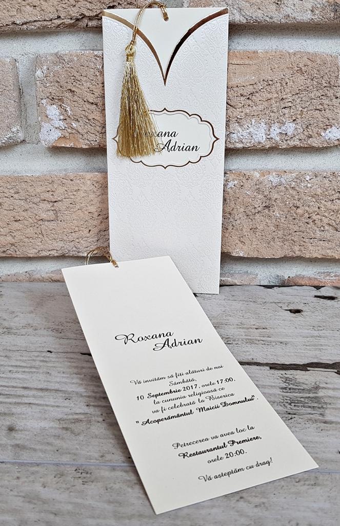invitatii nunta cu ciucurel 2723
