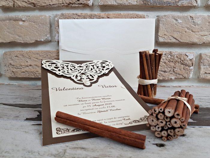 invitatii nunta cu perla 2760