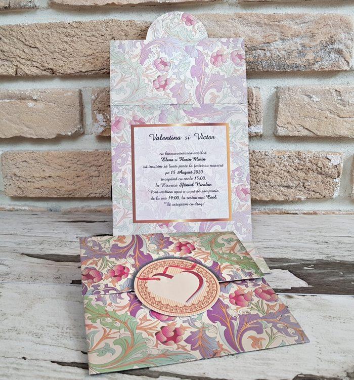 invitatii nunta vintage 2771