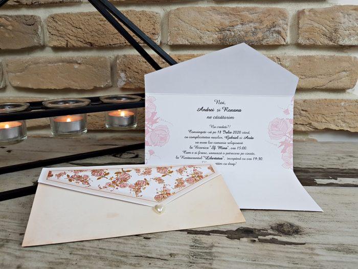 invitatii nunta clasice ieftine 2778