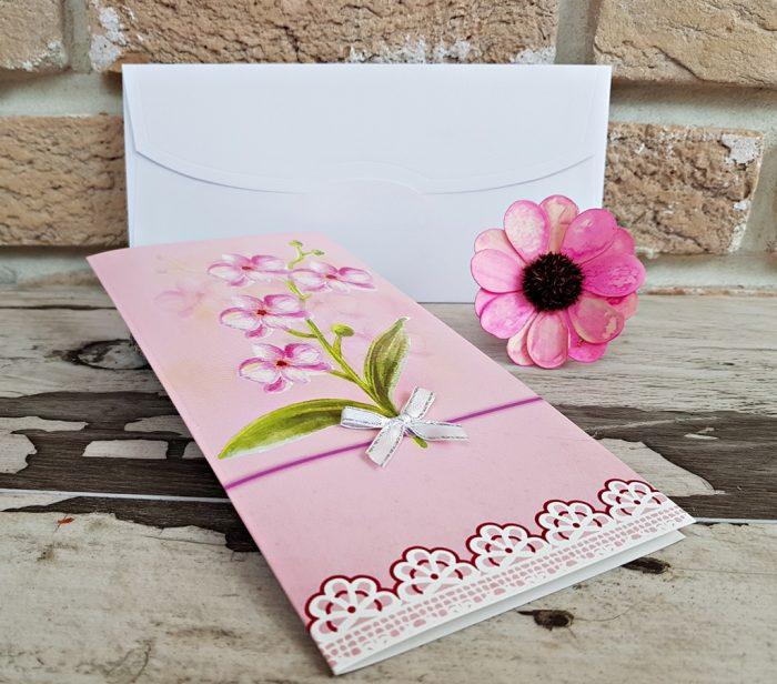 invitatii nunta roz simple tip felicitare 2785