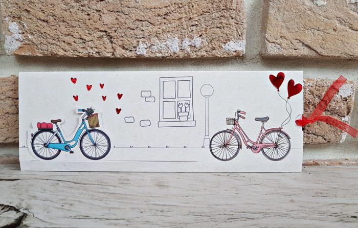 invitatii nunta vintage cu biciclete 2786