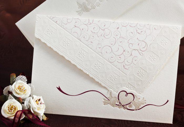 invitatii nunta 31517 elegante crem cu inimioara