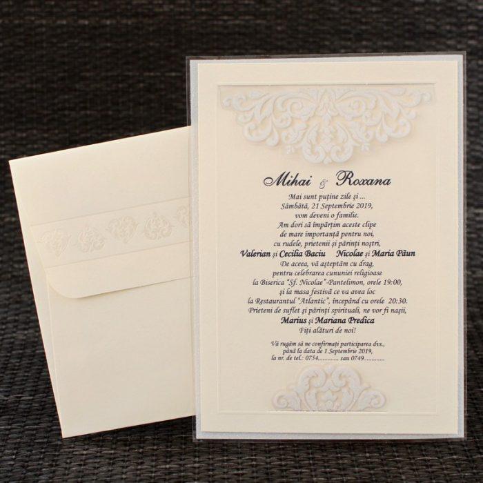 invitatii nunta elegante clasice 20416
