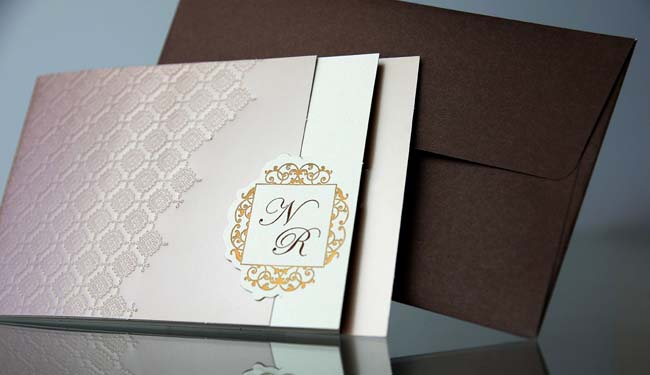 invitatii nunta aurii elegante 34915