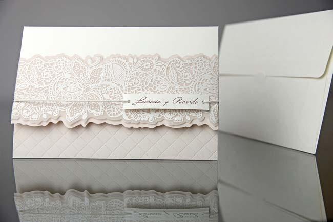invitatii nunta elegante crem deosebite 34935
