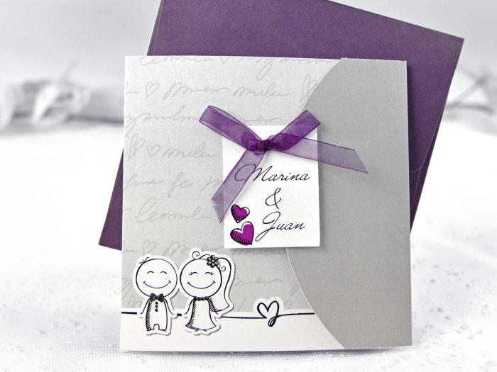 invitatii nunta haioase mov comice 35641