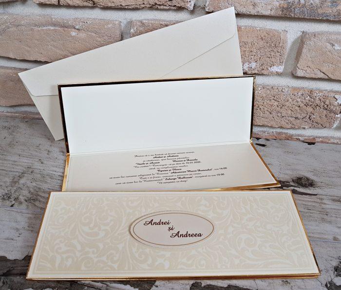 invitatii nunta lux 3670