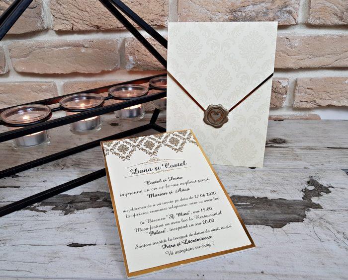 invitatii nunta elegante lux 3684