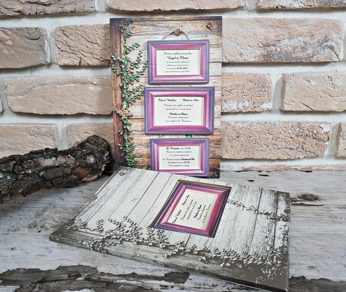 Invitatii nunta cutiuta 3713