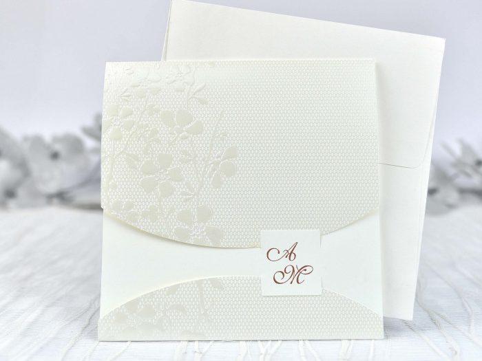 invitatii nunta crem elegante 39102