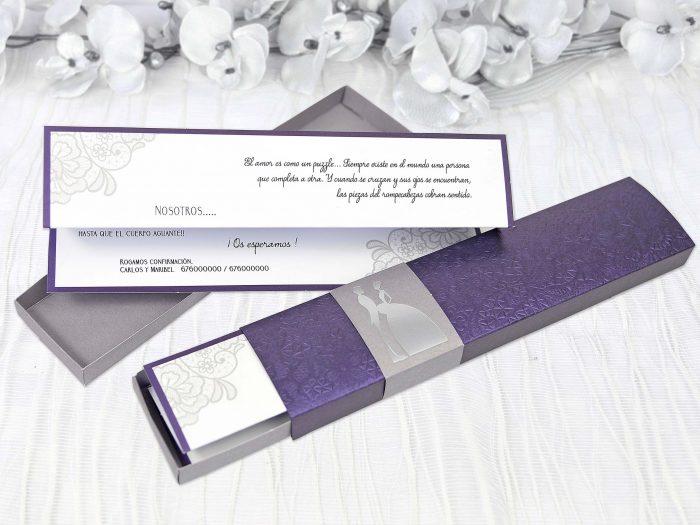 invitatii nunta mov 39208