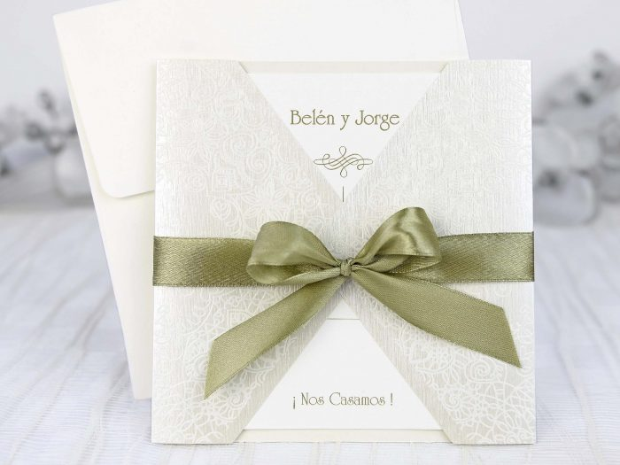 invitatii nunta eleganta fundita 39222