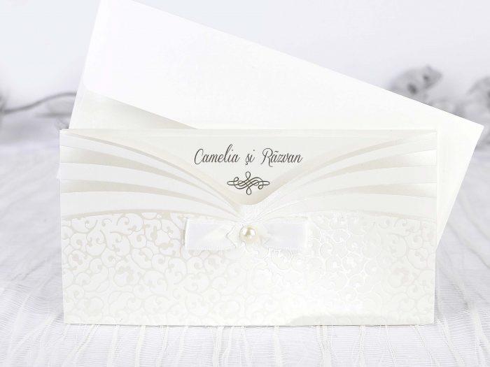 invitatii nunta crem elegante 39241