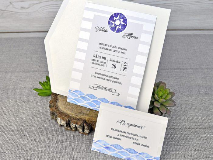 invitatii nunta apa mare valuri 39306
