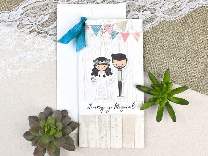 invitatii nunta turcoaz miri hippy 39631