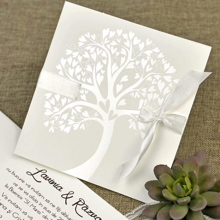 invitatii nunta crem copacul vietii 39642