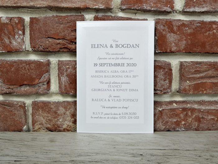 invitatie nunta 5396 eleganta clasica