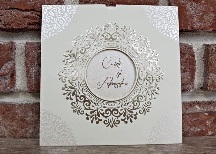 invitatie nunta 5535 eleganta clsica