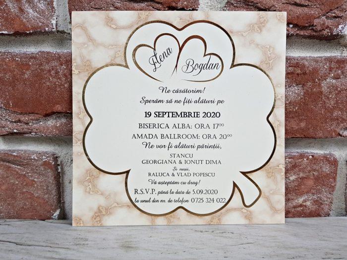 invitatie nunta 5612 eleganta claisica