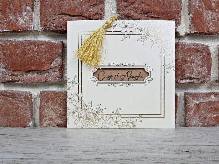 invitatie nunta 5659 eleganta clasica