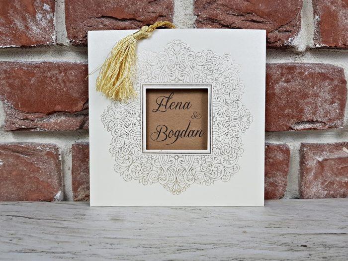 invitatie nunta 5665 eleganta clasica