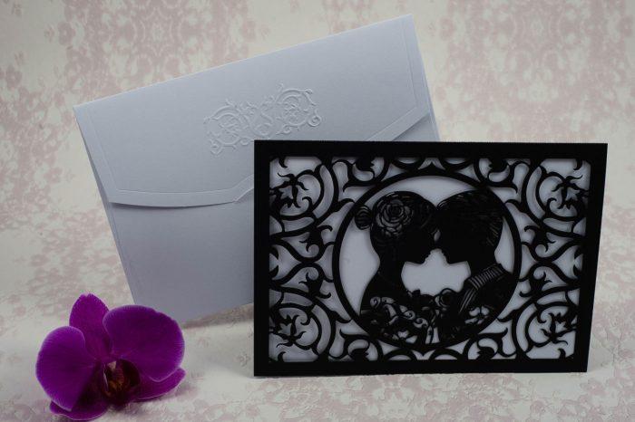 invitatii nunta decupate laser 2194