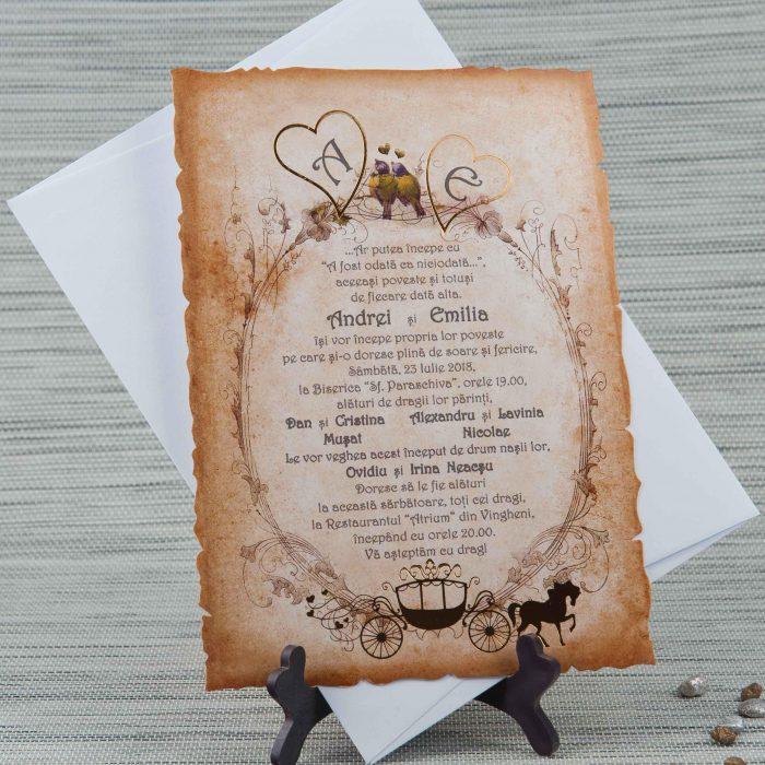 invitatii nunta vintage 20421
