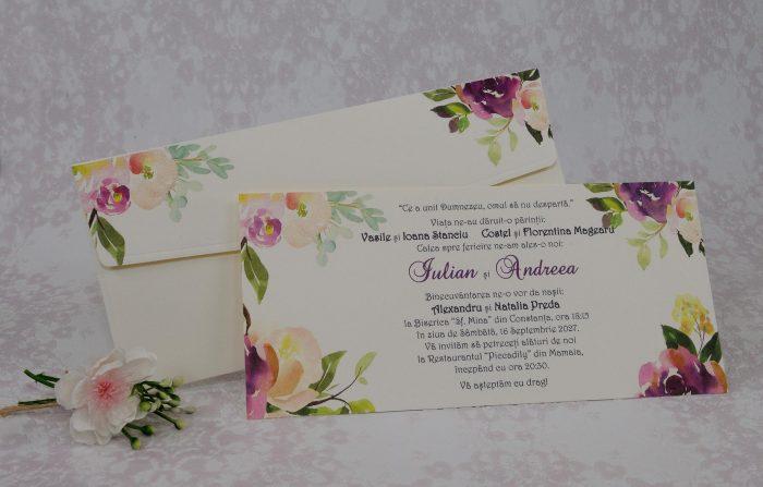 invitatii nunta simple vintage 22120