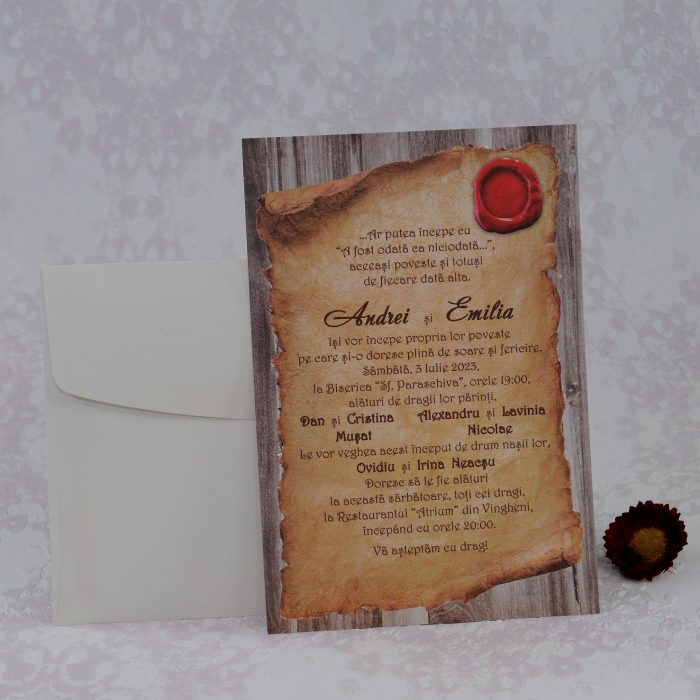 invitatii nunta clasice 2231