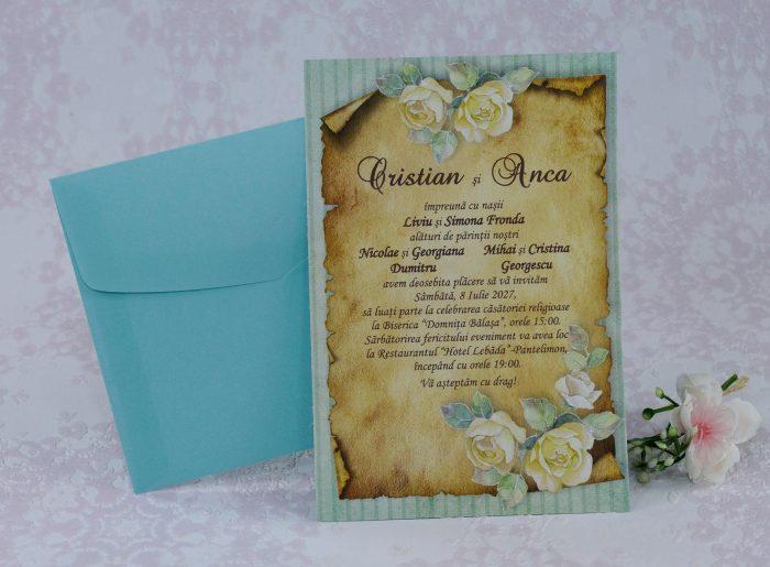 invitatii nunta turcoaz turquoise 22256