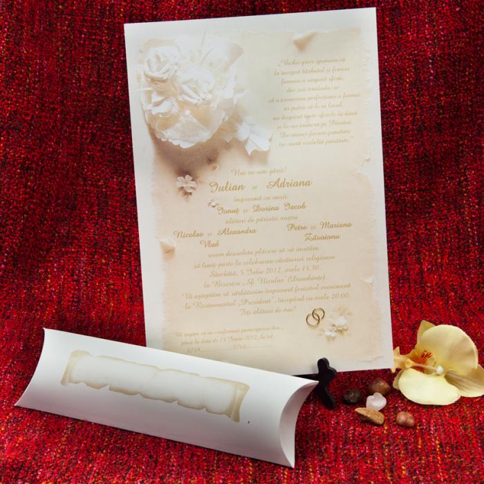 invitatii nunta papirus 1035