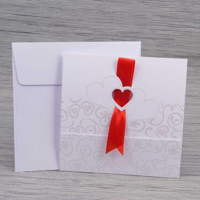 invitatii nunta inimioare elegante 1155