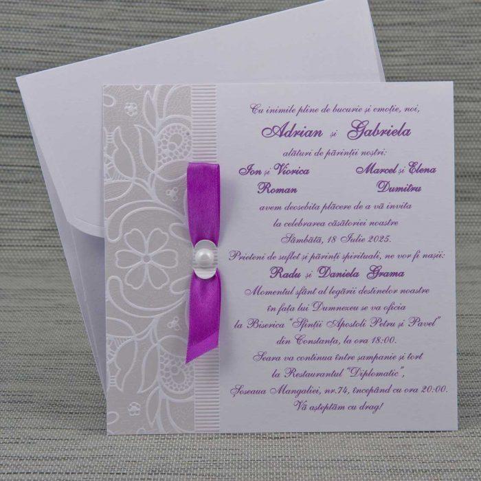 invitatii nunta mov 1158