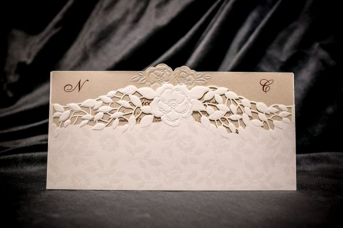 invitatii nunta crem 6028