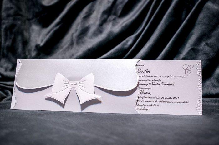 invitatii nunta argintii clasice 5022