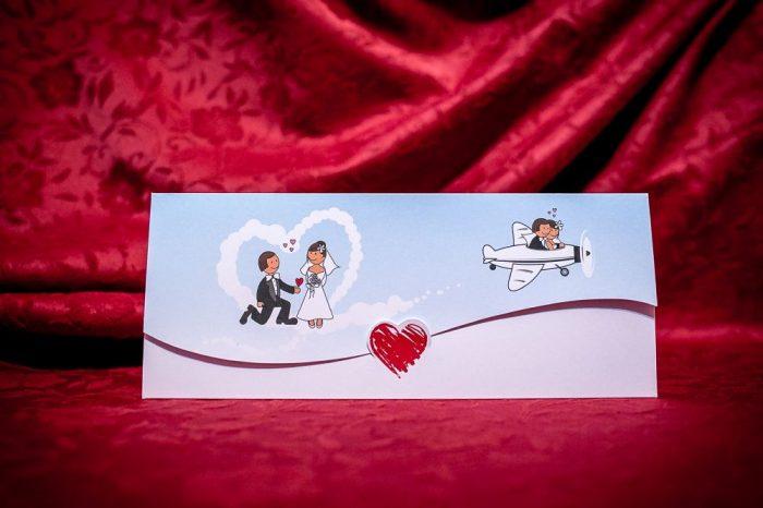 invitatii de nunta comice haioase avion 5020