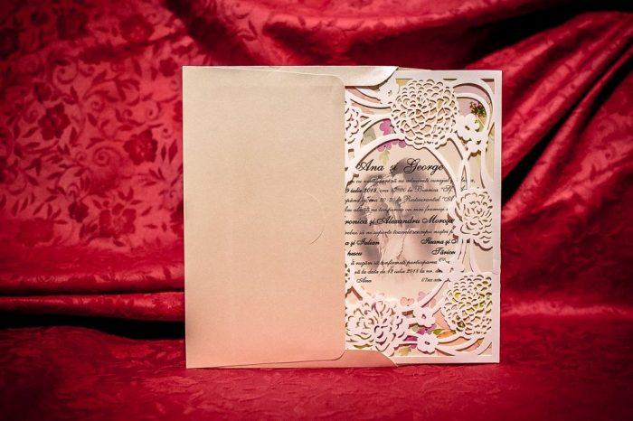invitatii nunta decupate laser 4050