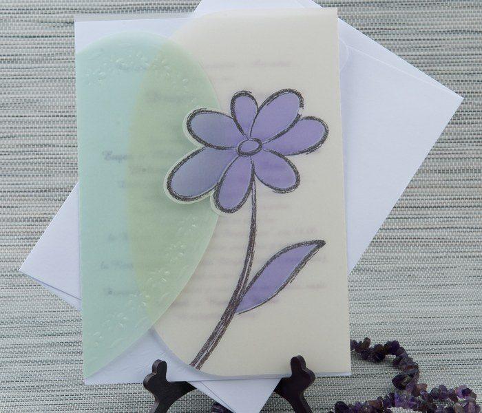 invitatii nunta flori mov 5124