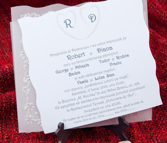 invitatii nunta albe 5147
